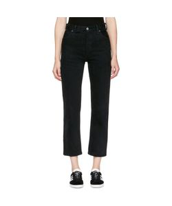 RE-DONE | Levis Edition Destruction High-Rise Crop Straight Jeans