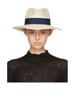 Maison Michel | And Navy Straw Henrietta Fedora