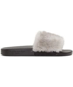 Givenchy | Mink Beach Slide Sandals