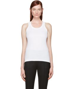 Hyke | White Ribbed Tank Top