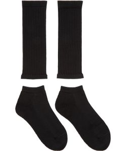 Hyke | Black Separate Socks
