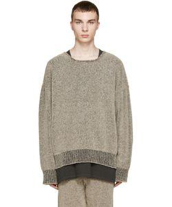 YEEZY SEASON 1   Brown Bouclé Knit Sweatshirt