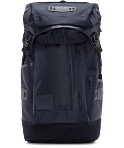 Master-Piece Co | Navy Nylon And Suede Backpack