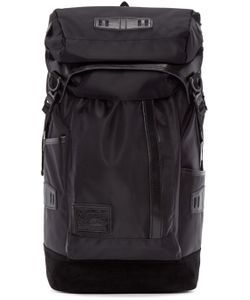 Master-Piece Co | Black Nylon And Suede Backpack