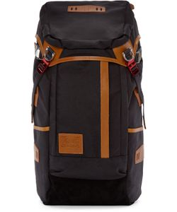 Master-Piece Co | Black And Tan Nylon Backpack
