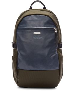 Master-Piece Co | Green Nylon And Leather Backpack
