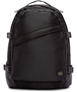 Porter | Black Nylon Tanker Day Pack Backpack