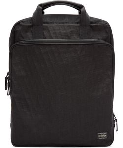 Porter | Black Hybrid Brief Ruck Backpack