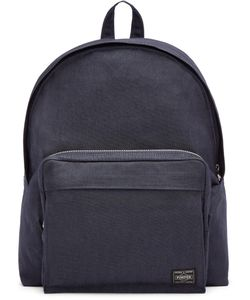 Porter | Navy Nylon Smoky Day Pack Backpack