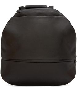 C te and Ciel | Black Coated Canvas Meuse Backpack