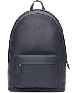 PB | 0110 Navy Leather Ca 6 Backpack