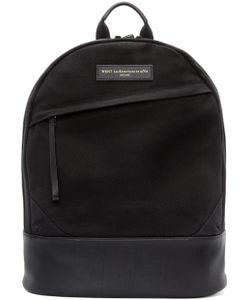 Want Les Essentiels De La Vie   Black Canvas And Leather Kastrup Backpack