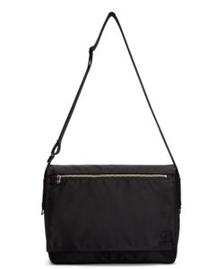 Porter | Black Nylon Lift Messenger Bag