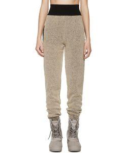 YEEZY SEASON 1   Brown Boucl Knit Lounge Pants