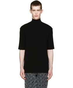 Johnlawrencesullivan | Black Turtleneck T-Shirt