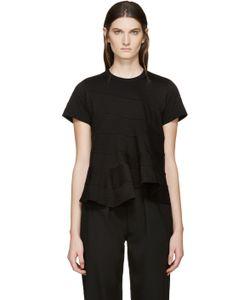 Tricot Comme des Garçons   Black Panelled T-Shirt