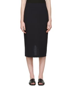 Hyke | Navy Vented Skirt