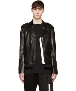 Pyer Moss | Ssense Exclusive Leather Strapped Biker Jacket