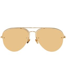 LINDA FARROW LUXE | 543 Aviator Sunglasses