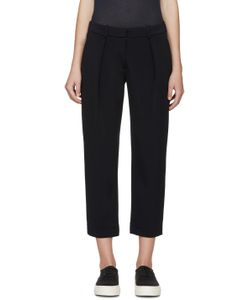 ATEA OCEANIE | Navy Bonded Jersey Trousers