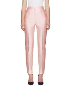 PALLAS | Pink Silk Seneque Trousers