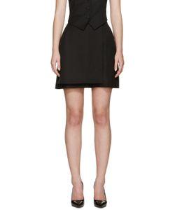 PALLAS | Black Wool Diogene Wrap Shorts
