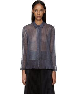 Sara Lanzi | Blue And Purple Organza Jacket