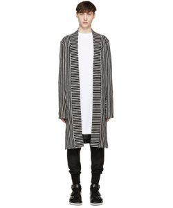 Pyer Moss | Ssense Exclusive Black And White Striped Cardigan