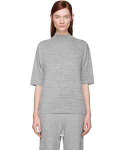 Hyke | Grey Mock Neck T-Shirt