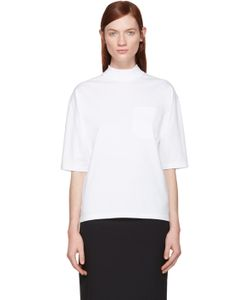 Hyke | White Mock Neck T-Shirt