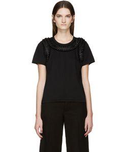 Noir Kei Ninomiya | Black Frilled Bows T-Shirt