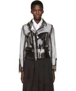 Noir Kei Ninomiya | Grey Vinyl Work Jacket
