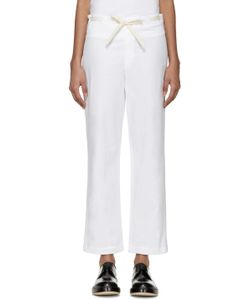 Sara Lanzi | White Drawstring Trousers