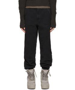 YEEZY SEASON 1   Black Twill Worker Pants