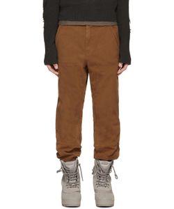 YEEZY SEASON 1   Camel Twill Worker Jeans