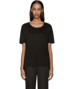 Earnest Sewn | Black Linen Julia T-Shirt