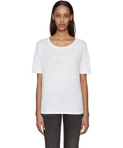 Earnest Sewn | White Linen Julia T-Shirt