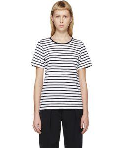 ATEA OCEANIE | White And Navy Matelot T-Shirt