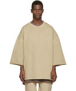 YEEZY SEASON 1   Beige Cropped-Sleeve Pullover