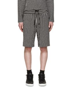 Pyer Moss | Ssense Exclusive Black And White Striped Shorts