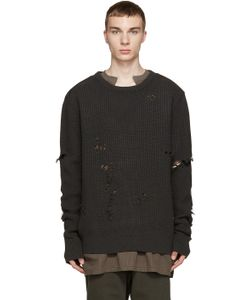 YEEZY SEASON 1 | Grey Patched And Destroyed Sweater