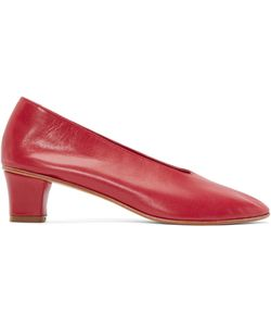 Martiniano | Red Leather High Glove Heels
