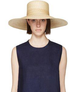 Clyde | Beige Straw Wide-Brim Neckshade Hat