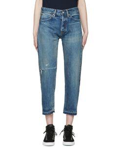 CHIMALA | Indigo Used Ankle Cut Jeans
