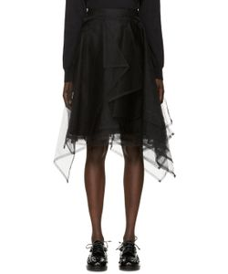 Noir Kei Ninomiya | Black Layered Tulle Skirt
