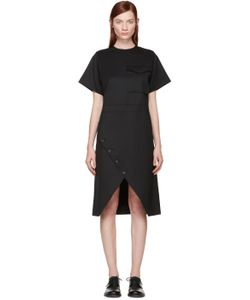 Hyke | Black Wool Wrap Dress