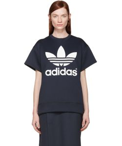ADIDAS ORIGINALS BY HYKE | Navy Neoprene Logo Pullover