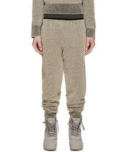 YEEZY SEASON 1   Brown Bouclé Knit Lounge Pants