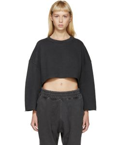 YEEZY SEASON 1   Grey Cut-Off Pullover