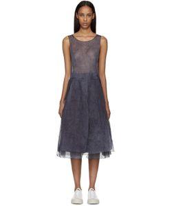 Sara Lanzi | Blue And Purple Organza Dress